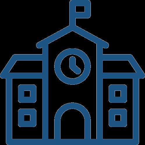 IT Cloud Shop Gemeinden und Kommunen | Rathaus Icon